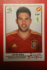 Panini EURO 2012 N. 293 ESPANA ALBA NEW With BLACK BACK TOPMINT!!