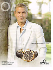 PUBLICITE ADVERTISING 075  2009  OMEGA  montre SPEEDMASTER george GEORGE CLOONEY