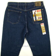 Wrangler Jeans New Mens Size 36 x 32 DARK STONEWASH - RELAXED FIT Straight Leg