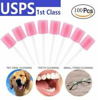 100pcs /Set Disposable Mouth Swabs Sponge Tooth Cleaning Oral Care Sticks Dental