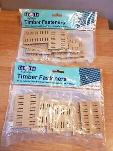 NEW Coolaroo 2x50 Timber Fasteners for Fabrics to Garden Pergolas Fences MUSTARD