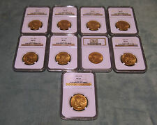 NGC SET OF 6 $10 INDIAN GOLD COIN MS62 -CIRCA  1911 & 1926 PRICES ARE FOR 1 ONLY