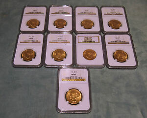 NGC SET OF 3 $10 INDIAN GOLD COIN MS62 -CIRCA  1911 & 1926 PRICES ARE FOR 1 ONLY
