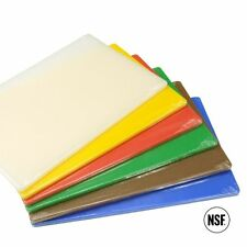 Set of 6 Chopping Cutting Boards 400 x 253 x 12.7mm Plastic Commercial Grade
