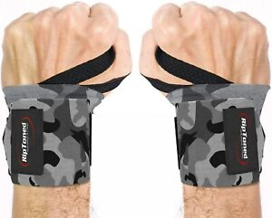 """Rip Toned Wrist Wraps 18"""" Professional Grade With Thumb Loops - Wrist Support"""