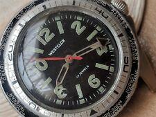 Vintage Westclox World Time Diver Watch w/Dual Bezels,17 Jewels Mvmt,Runs Strong