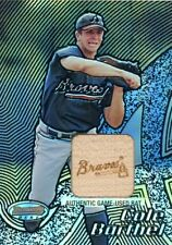 Cole Barthel 2002 Bowman's Best Cole game used bat Atlanta Braves