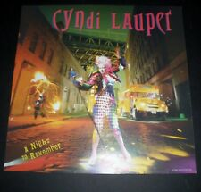 RARE  CYNDI LAUPER A NIGHT TO REMEMBER 1989 VINTAGE STORE RECORD PROMO DISPLAY