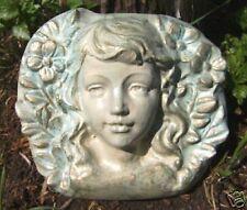 Gostatue plaster concrete cement  plastic mold  fairy face mould
