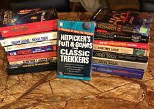 Lot of 15 Vintage STAR TREK Novels & CLASSIC TREKKERS 1995 Game