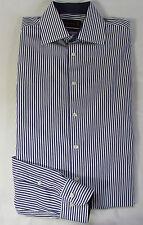 JACQUES BRITT Freizeit Hemd, Baumwolle lila - weiß gestreiftt Gr. KW 42