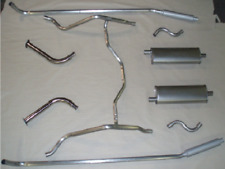 1956-57 LINCOLN CONTINENTAL MARK II DUAL EXHAUST, ALUMINIZED WITH RESONATORS