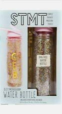 STMT DIY Monogram Personalised Glitter Water Bottle