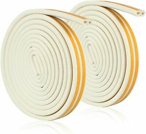 5M / 10M Rubber Seal Weather Strip Foam Sticky Tape Door Window Draught Excluder