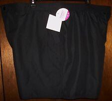 Womens Shorts sz 24W CROFT & BARROW Black Tummy Slimmer/Inner Panty Zip Fly NWT