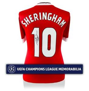 Teddy Sheringham Official UEFA Champions League Back Signed Manchester United Ho