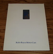 Original 1992 Rolls Royce Silver Spur Corniche Media Press Kit 92