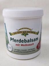 (35,80€/L) Pferdebalsam mit Weihrauch 500 ml m.Avocado - und Olivenöl parfumfrei