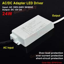Mini AC-DC Converter 110V 120V 220V 230V to 12V 2A 24W LED Lamp Driver Adapter
