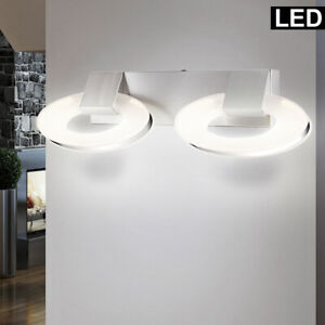 LED Design Wand Strahler Up Down Chrom Ringe Lampe Wohn Zimmer Leuchte satiniert