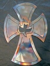 Metal Art Christian Cross Wall Decor Christian Theme Dove Cross