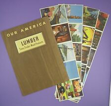 c1940s Coca Cola Album & Card Set in Uncut Strips - Our America, Lumber