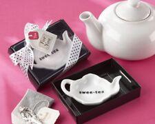 96 Swee-Tea Ceramic Tea Bag Caddy Bridal Shower Wedding Favors