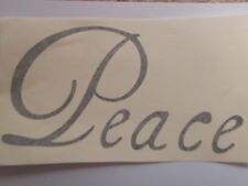"""Peace"" vinyl wall art sticker decal home indoor - choose colour"