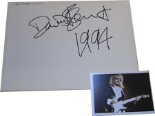Dave Stewart SIGNED AUTOGRAPH  Eurythmics MTVs Most Wanted Page AFTAL UACC RD