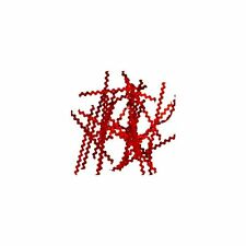 FOIL Unique Metallic RED Designer RIPPLE STRIP Nail Art