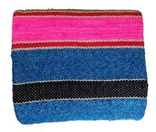 Hand Loom Woolen Carpet Rag Rug Floor Mat Yoga Mat Vintage Throw Coverlet