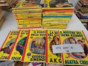 LOTTO 30 GIALLI MONDADORI e vari giallo vintage lotto 30 numeri foto reali