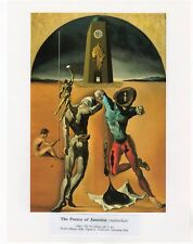 "SALVADOR DALI  Print Book Plate 9x12--""The Poetry of America"" 1943"