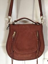 REBECCA MINKOFF *VANITY* SUEDE CROSSBODY SADDLE BAG WHISKEY *SOLD OUT NWT*