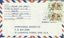 Macau Macao CHINA Sc#426(x2-''72 OLYMPIC ISSUE) 13/12/74 Airmail to USA