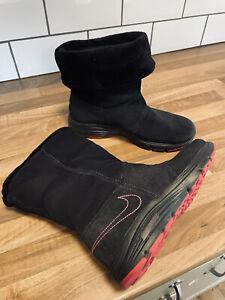 Nike Jill Boot Duel Fusion 525261-001 Black Pink Faux Fur Trim UK Size 5 EU38
