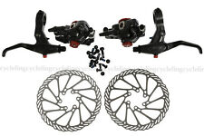 Avid BB7 Disc Brake Front and Rear Calipers 160mm G3 Rotors SD7 Levers..