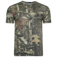 Mens Jungle Print Hunting Camouflage T Shirt Shooting Mens Top Tee Real Tree