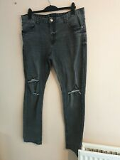 "MENS SIZE 40"" GREY RIPPED JEANS FROM LABEL-J"