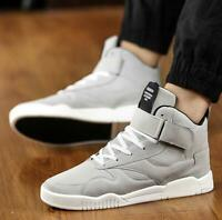Mens High Top Sport Walking Breathable Sneakers Jogging Street Board Shoes New