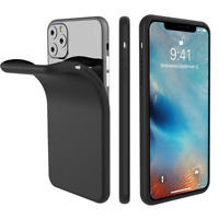 For iPhone 11 PRO MAX Case, Silicone Ultra Soft Gel Phone Cover - Matte Black