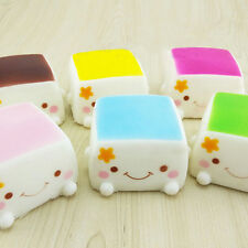 Cute Soft Chinese Squishies Tofu Expression Smile Face Cell Phone Keychain UK