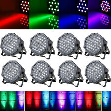 8PCS 80W 36 LEDs RGB Stage Lighting PAR Can Lights DMX512 Control Party Disco DJ
