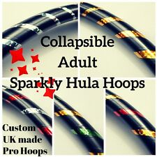 Professional COLLAPSIBLE Adult Exercise Hula Hoop! SHIMMERY RANGE! UK Hand Made