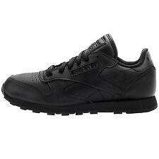 Reebok Classic Leather Juniors J90142 Black Shoes Big Kids Sneakers Youth Sz 6.5