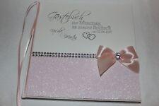Hardcover Gästebuch zur Hochzeit , hellrosa