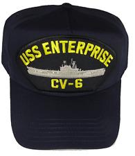 USS ENTERPRISE CV-6 HAT CAP USN NAVY SHIP BIG E YORKTOWN CLASS AIRCRAFT CARRIER