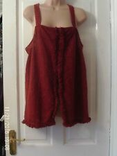 SIZE 14 RUST SUMMER TOP BY RIVER ISLAND