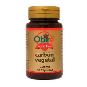 CARBON VEGETAL ACTIVADO 250 mg 60 Cápsulas - OBIRE - Digestiones pesadas