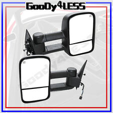 For 99-02 Silverado Sierra Pickup Towing POWER HEATED Telescoping Mirrors Tow